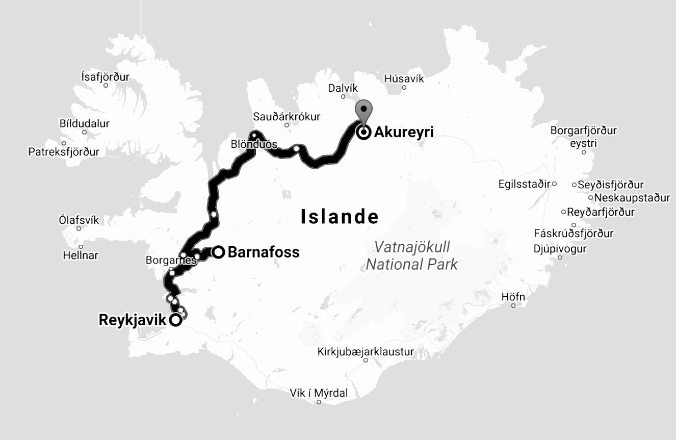 Reykjavik - Akureyri