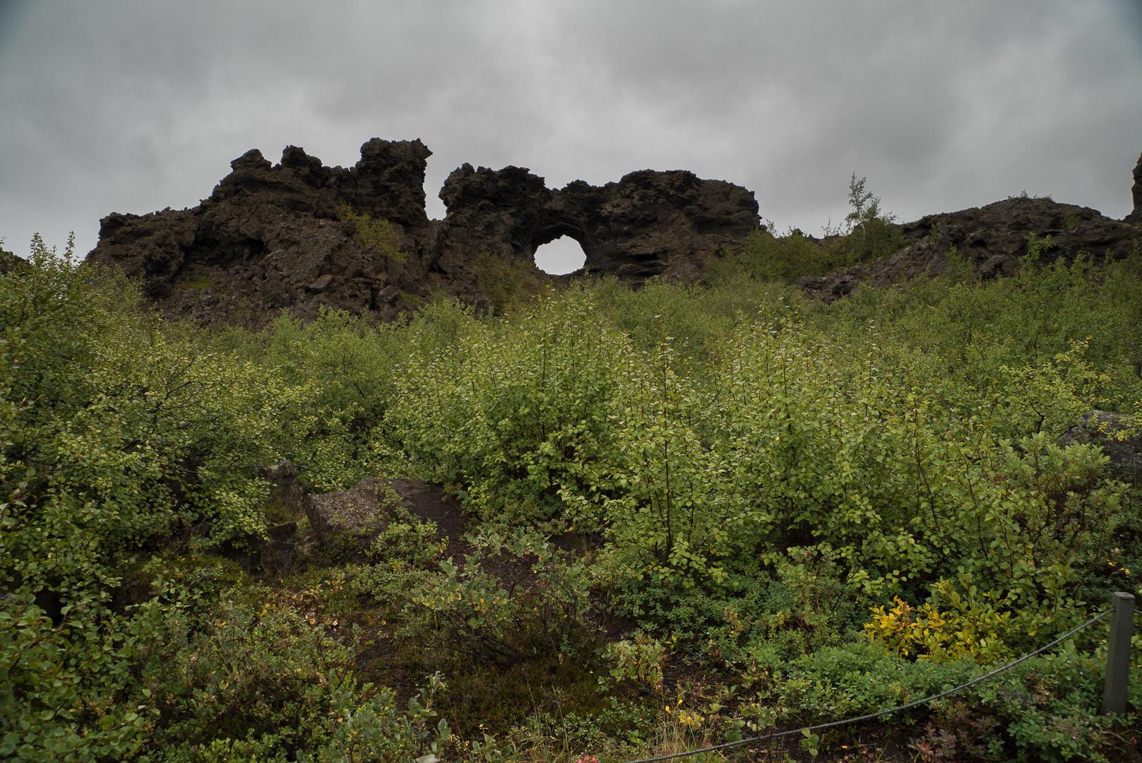 Dimmuborgir région myvatn que faire islande