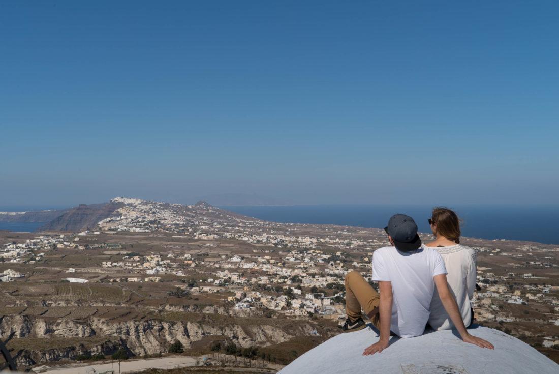 Pyros vue sur Santorin