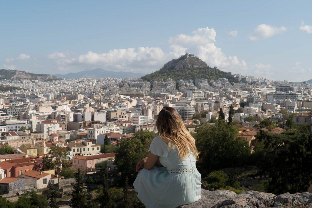Athènes vue Acropole