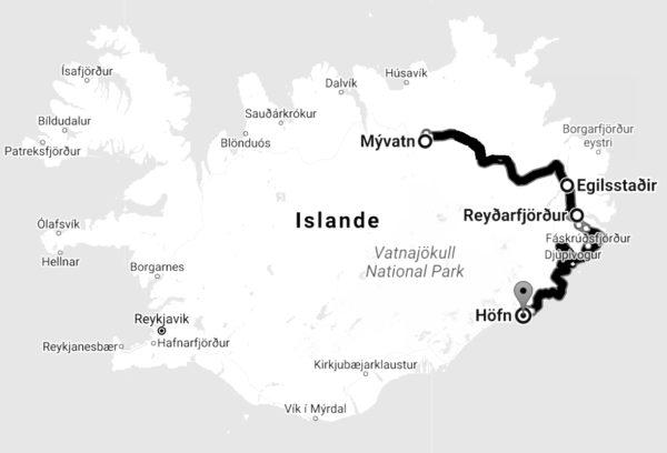 Itinéraire 8 jours Islande
