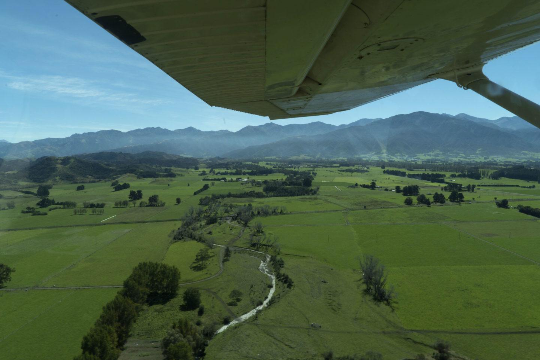 Vol au dessus de la péninsule de Kaikoura