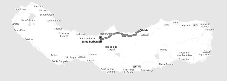 partie Nord sao miguel maia santa barbara