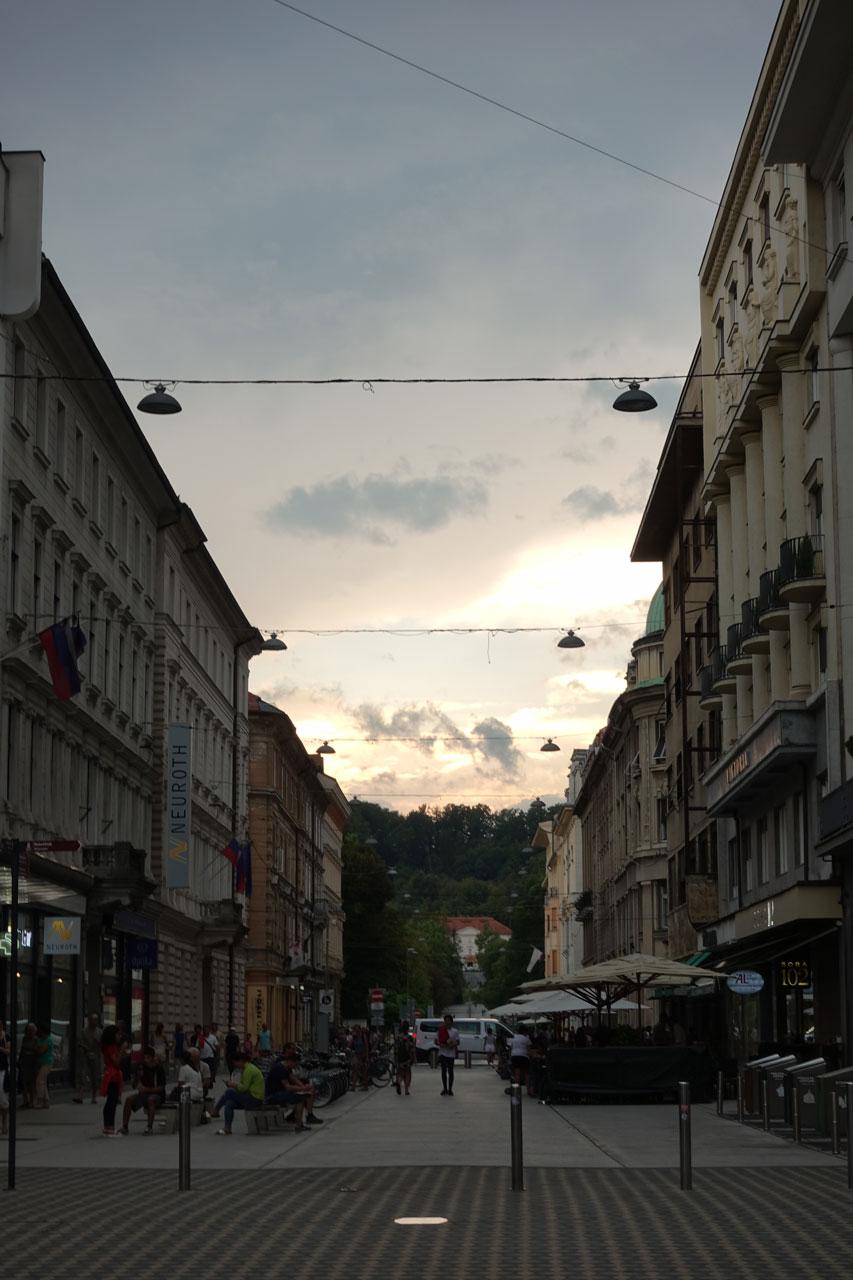 Centre ville Ljubljana un jour