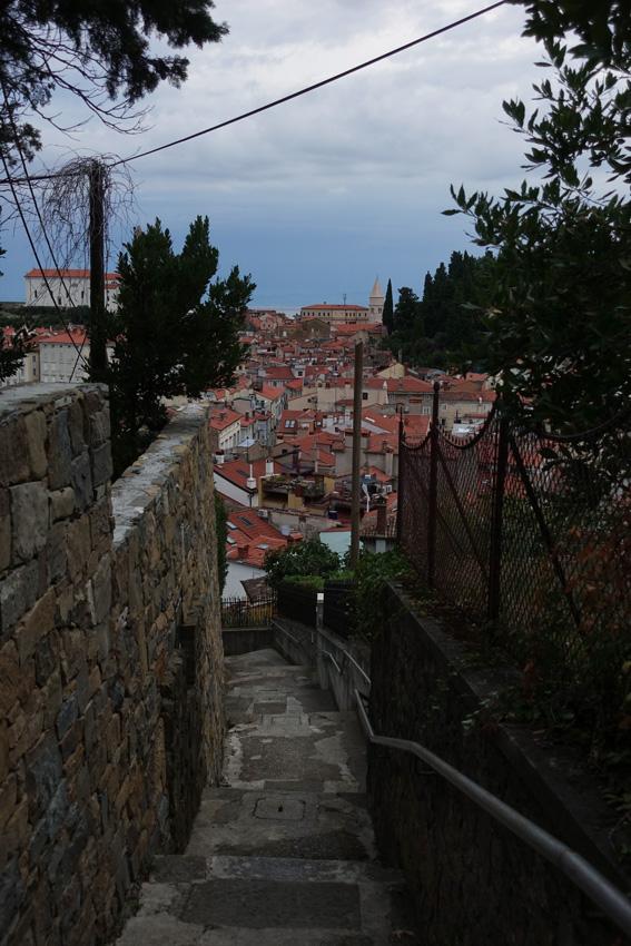 se perdre dans les rues de Piran