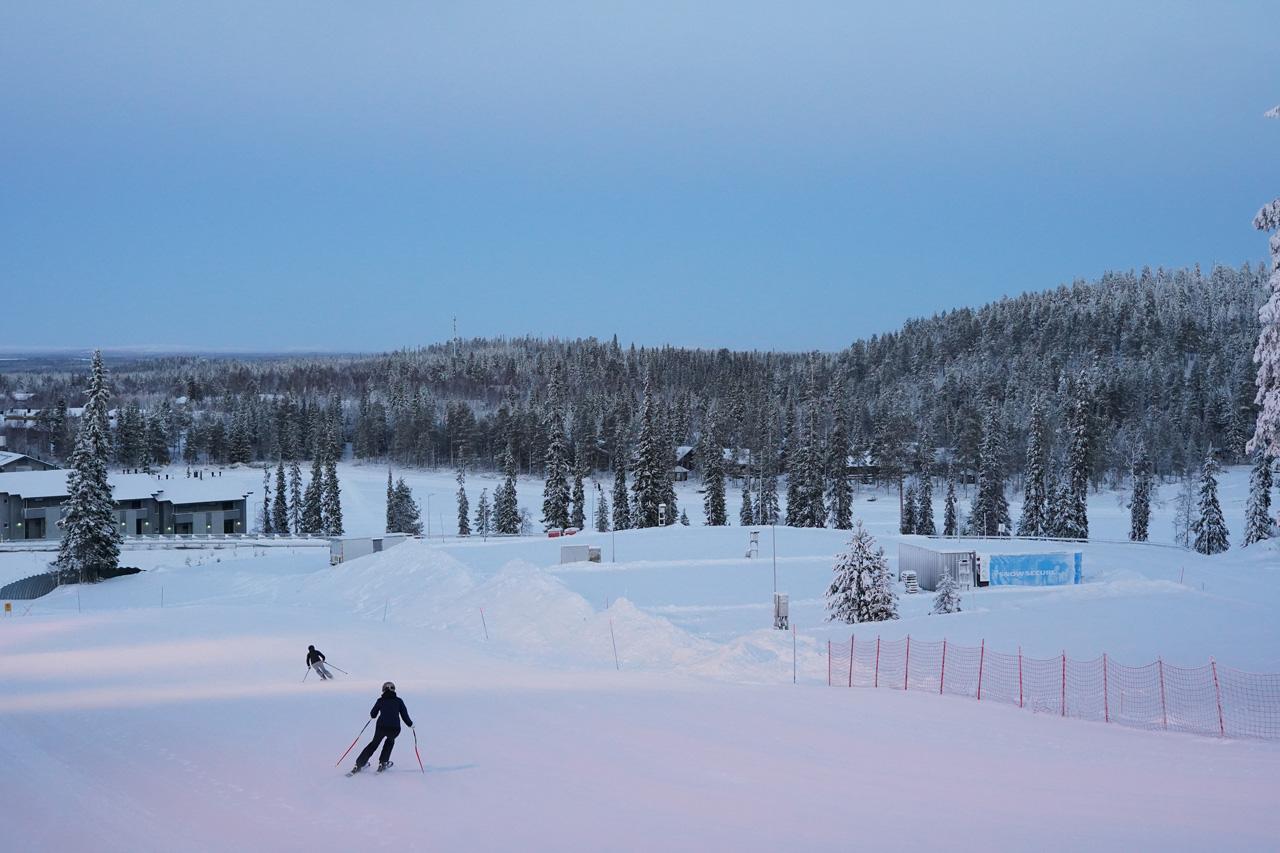 Laponie Finlandaise Décembre Ski