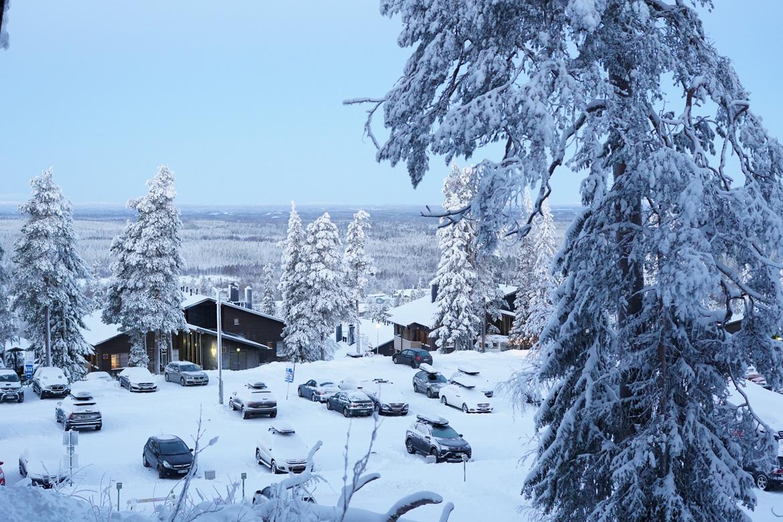 ruka station ski finlande vue