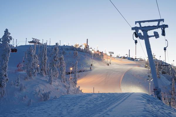 ruka station de ski finlande