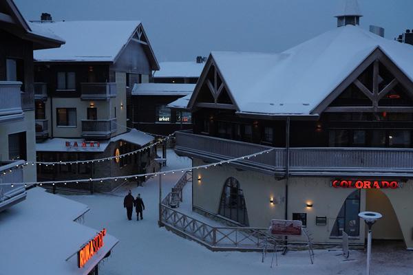 ruka station ski finlande