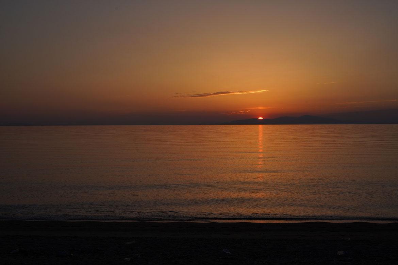 Awaji coucher de soleil plage