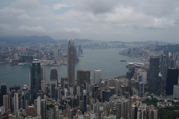 Victoria Peak vue biais Hong Kong