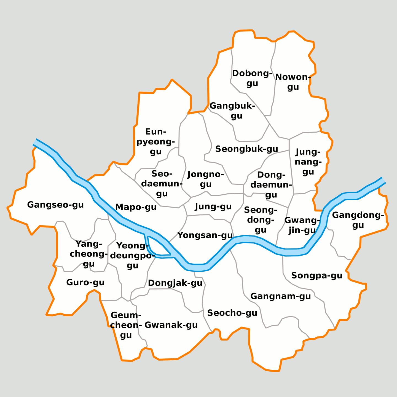 carte ville séoul