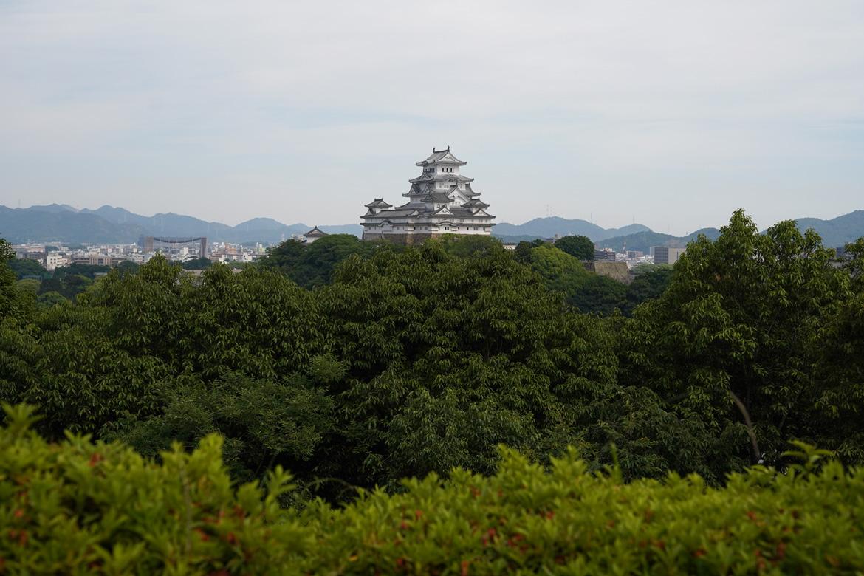 Château Himeji vue parc Minamiyashiro