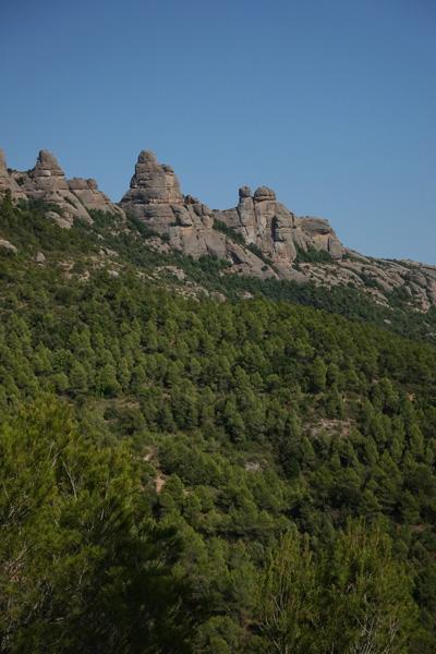 Montserrat point de vue sur la route