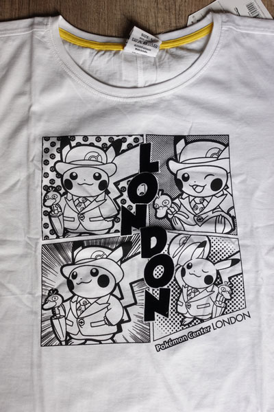 Pokémon Center Londres t-shirt exclusif pikachu