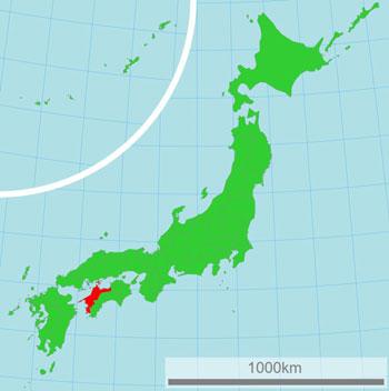 Préfecture Ehime carte