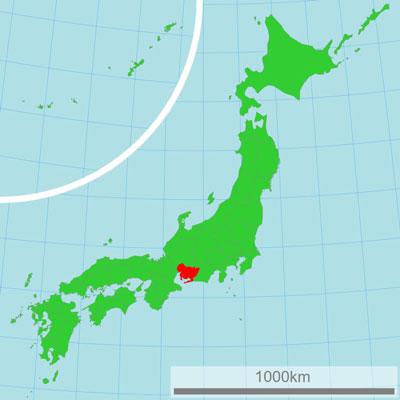 carte préfecture Aichi