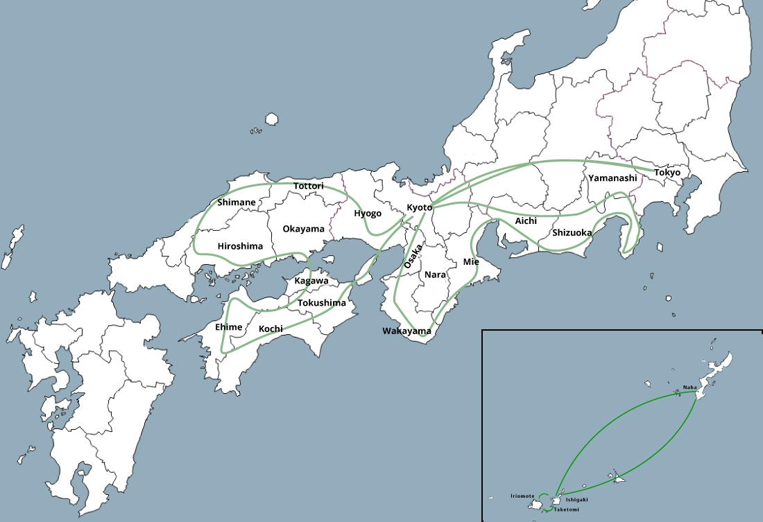 Road trip 3 mois Japon itinéraire